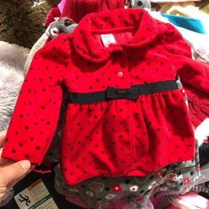 Carter's Red Jacket with Black Polka Dots & Bow